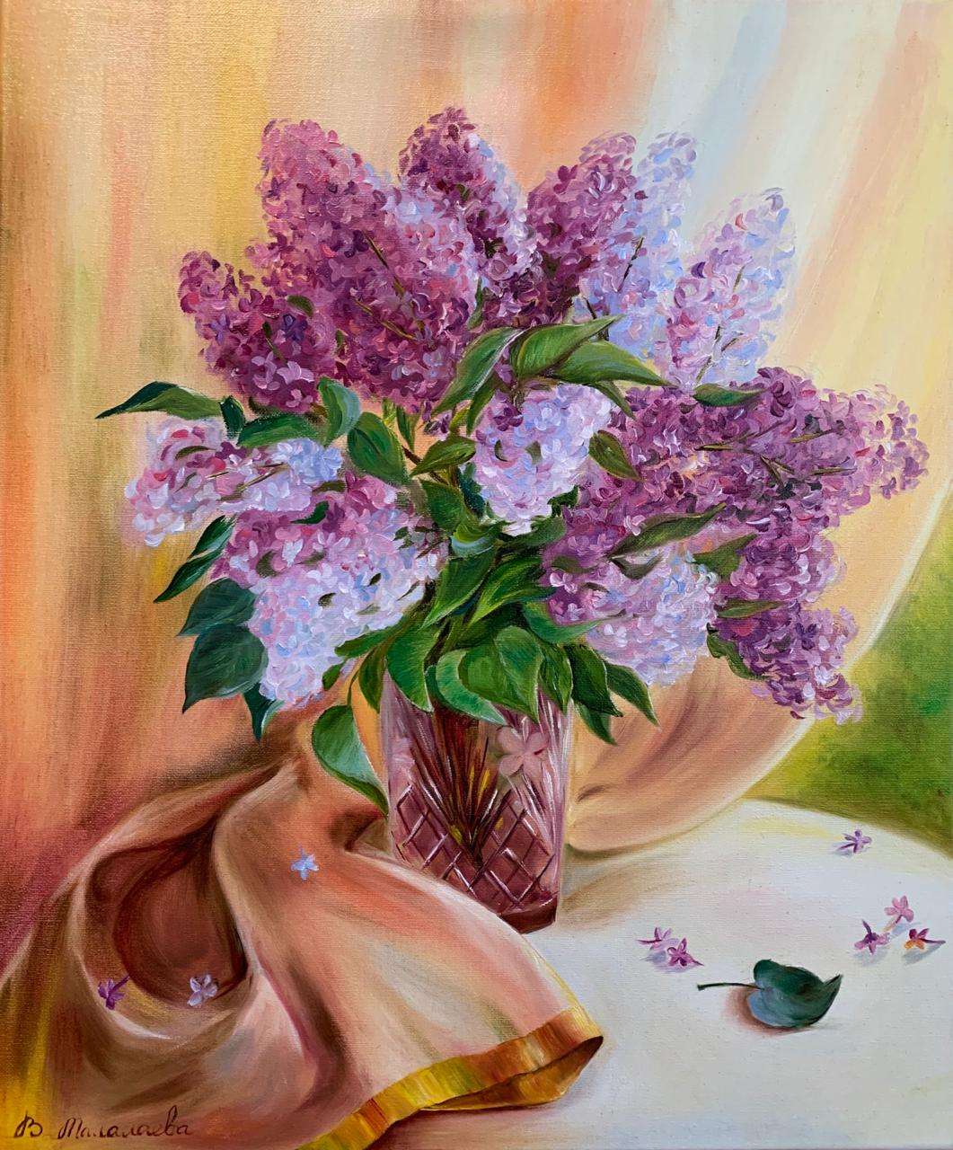 Lilac in the  crystal vase